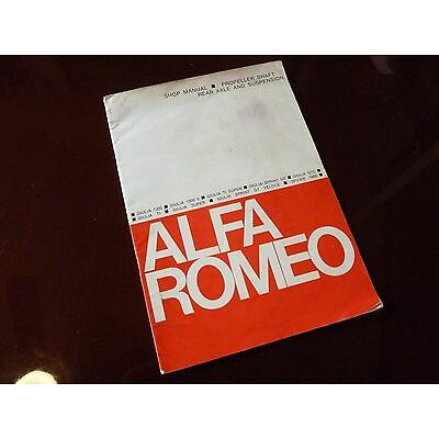 Genuine Alfa Romeo Giulia Sprint GTC GT Super Sprint Spider Veloce Shop Manual