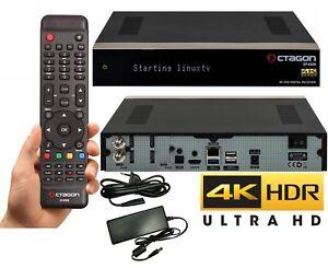 Octagon SF4008 Triple 4K 3x DVB-S2X HEVC H.265 E2 Linux UHD Sat Receiver