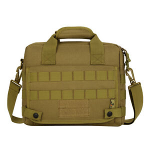 Men-Multi-use-Nylon-Laptop-Messenger-Crossbody-Shoulder-Bag-Tote-Case-Khaki