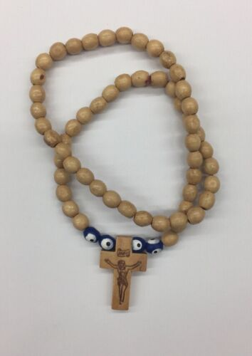 Auto Wooden Rosary For Your Car Rear View Mirror. Ozstock Free Shipping.