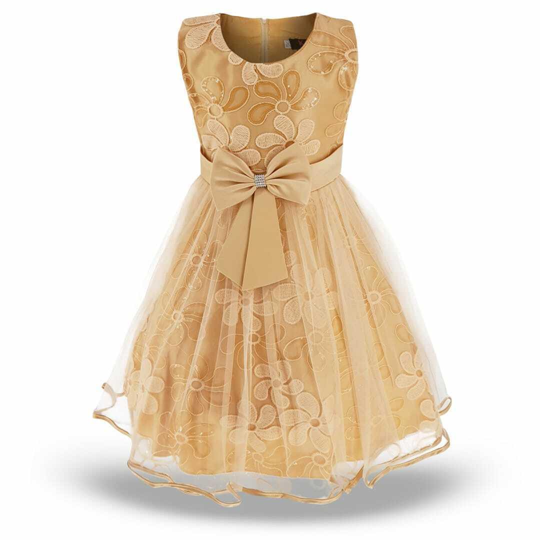 Girls Kids Party Dress Sequin Sparkling Princes Dress Bridesmaid Wedding UK
