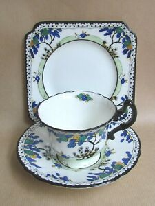ROYAL-DOULTON-ART-DECO-H1790-TEA-TRIO-C1925-Ref4895