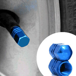 4xNTruck-Car-Auto-Blue-Aluminum-Motorcycle-Wheel-Tire-Stem-Valve-Cap-Tyre-Covers