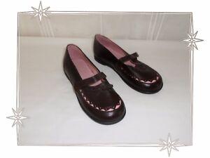 Superbes-Chaussures-Babies-Marron-Rose-Dentelle-N-ud-Jacadi-Pointure-34