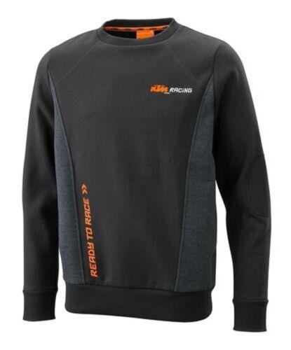 KTM mécanicien Sweat Sportif Sweater Top Pull Noir Gris RRP £ 57.78!!!