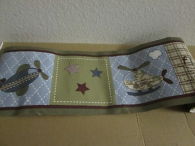Confident Baby Martex Nursery Approx 15' Wallpaper Border Flying Airplanes Planes Vguc Excellent Quality