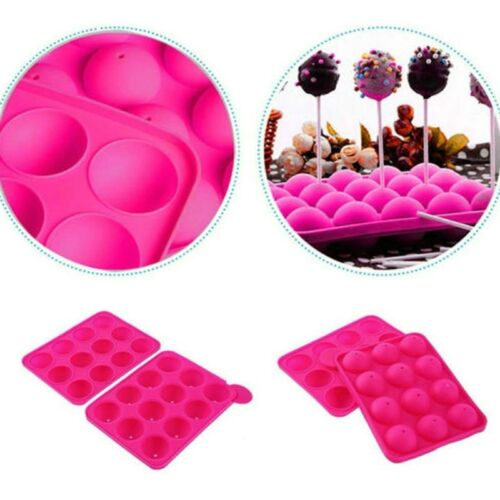 12 Round Lollipop Pastry Truffle Christmas Candy Cake Pop Mold Mould Nice WH1