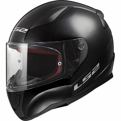 LS2 FF353 Rapid Plain Motorcycle Scooter Crash Helmet Black White Silver New