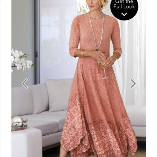 Soft Surroundings Casablanca Long Dress, Petite M,