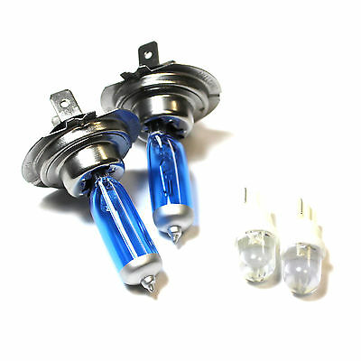 Ssangyong Rexton 55w ICE Blue Xenon HID High//Low//Side Headlight Bulbs Set