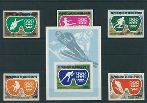 Haute-Volta-Olympia-1976-Innsbruck-Mi-603-607-Bloc-39-B-Neuf-MNH