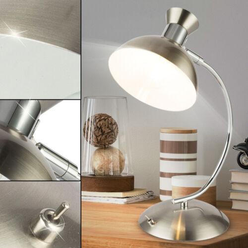 Vintage LED Nacht Tisch Lampe Schlaf Zimmer Beleuchtung Lese Strahler beweglich