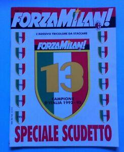 RIVISTA-FORZA-MILAN-N-6-GIUGNO-1993-CON-ADESIVO-13-SCUDETTO-POSTER-CENTRALE