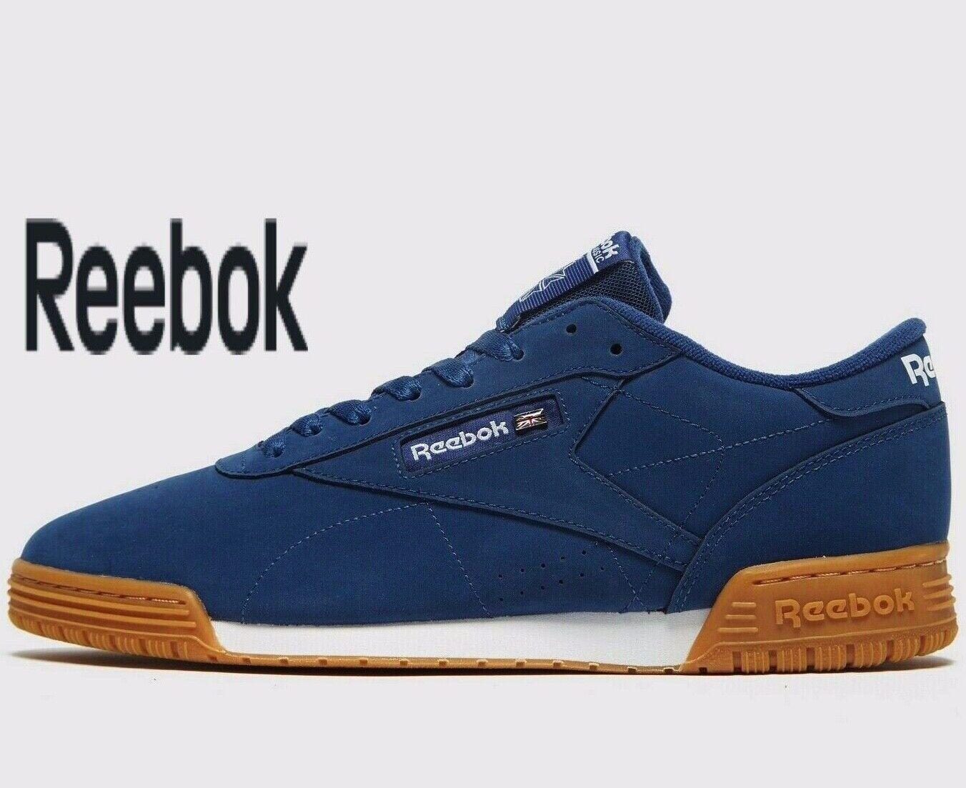 Reebok Ex-o-Fit Cuero ® (Hombres Tallas Reino Unido 7 - 12) entrenamiento lavado Azul oscuro