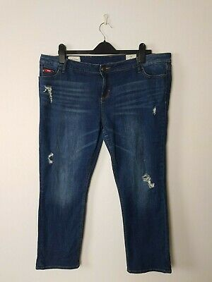 Womens Ex Chainstore 3//4 Crop Trousers Skinny Fit Jeans White Size 4 to 8 Ladies
