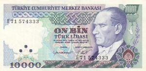TURKEY-P-200-10-000-Lira-ND-1989-UNC