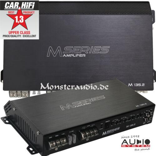 AUDIO SYSTEM M-135.2 2-Kanal Verstärker Cl A//B Auto PKW Endstufe 2x135 Watt//RMS