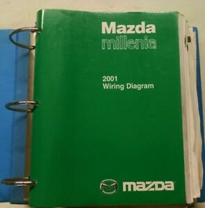 2001 MAZDA MILLENIA SERVICE SHOP REPAIR MANUAL & WIRING ...