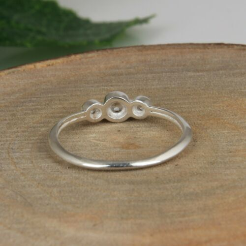 Genuine White Topaz Gemstone 925 Sterling Silver Women/'s Engagement Rings