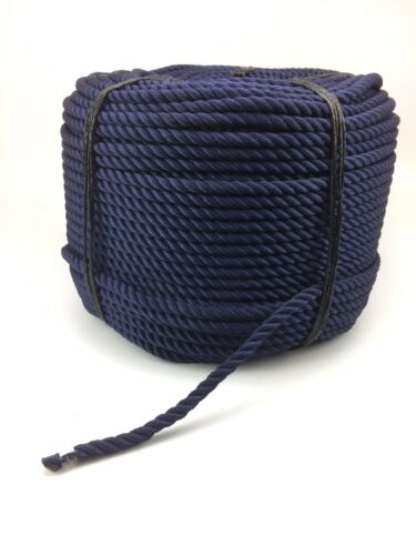 10mm Navy Blue Nylon Rope x 220 Metres, Anchor Line Boat Dock Mooring Yacht Warp