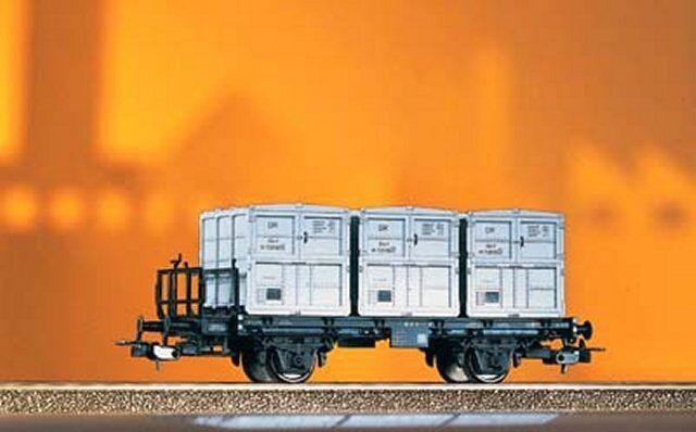 PIKO 54420 H0 Behältertragwagen BTw91, DR, Ep.III, Neu OVP