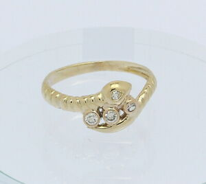 Schlangenring-in-14-kt-14k-585er-Gelb-Gold-mit-Brillanten-Brillant-Diamant-Ring
