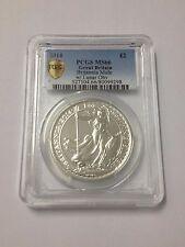 Britannia Rare Mule Error w/ Lunar Obverse 2014 1 oz 999 Silver Coin - MS66 PCGS