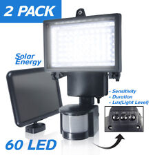 2-PACK 60 LEDs Outdoor Garden Solar Motion Sensor Security Flood Light Spot Lamp