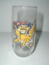 Ultra Moo Noo-Tricia Flying Cow Ultramar Petroleum Promotional Glass 1986