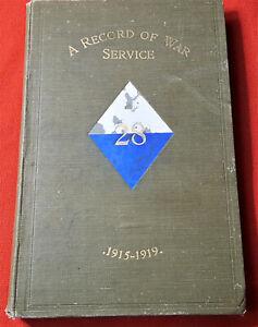RARE-BOOK-WW1-28TH-BATTALION-WESTERN-AUSTRALIAN-INFANTRY-BN-ANZAC-UNIT-HISTORY