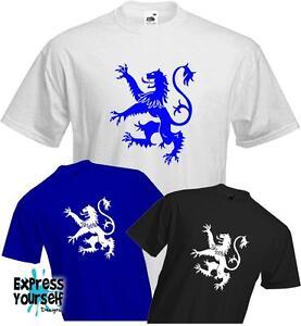 Scozzese leone rampante (SCOZIA) - Paese-Patriottica-RUGBY-t-shirt di qualità