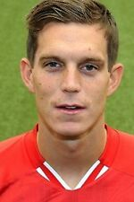 Football Photo>DANIEL AGGER Liverpool 2013-2014