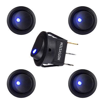 SmartSwitch 12V LED//Light Round Rocker ON//OFF Switch for Car//Van//Dash//Boat BLACK