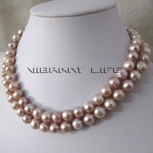 32 8-10mm Lavender Freshwater Pearl Necklace Strand Jewelry AC