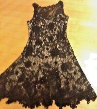 Sue Wong Black Lace And Nude Backing Party Dress Sleeveless NWOT Size 8