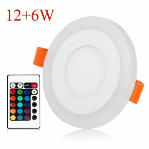 Dual Color LED Panel Recessed Ceiling Down Light Spotlights Round RGBW Changing