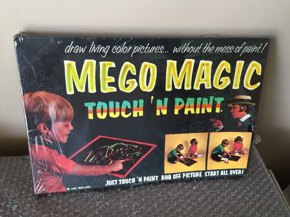 RARE Vintage 1969 Mego Magic Touch n Paint Play Set FACTORY SEALED