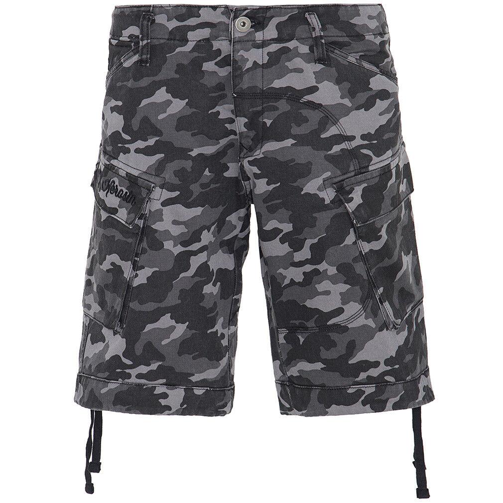 King Kerosin Vintage Biker Cargo Shorts Kurze Hose - Bermuda Camouflage