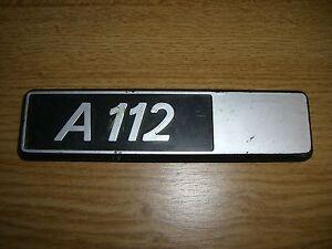 Emblem-Badge-Autobianchi-A-112-Plastik-ca-15-cm-lang