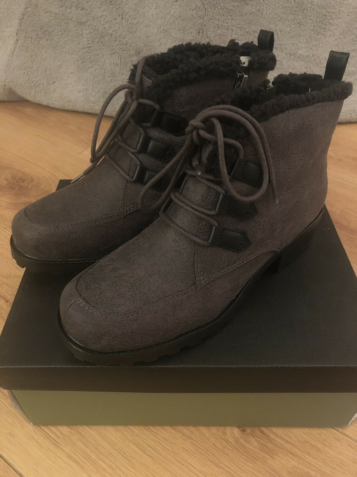 BRAND NEW TredTERS SNOWFLAKES III ladies fleece lined ankle ankle ankle boot - Grey UK 5.5 M 83bfc0