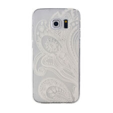белый Hot White For Samsung Galaxy S6 Edge Soft Rubber TPU Case Cover дело