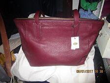 Fossil Womens Sydney Shopper  Maroon Bag
