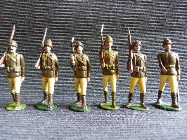 6 soldaten de l'arm é e britannique - guerre de soudan - marque à zurück.