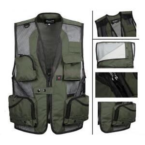 6252f92bcabb55 Image is loading Mens-Multi-Pocket-Fishing-Vest-Photography-Hunting -Director-