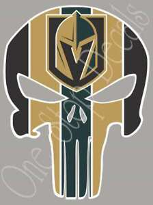 Vegas Golden Knights Punisher Vinyl Decal Sticker For Car