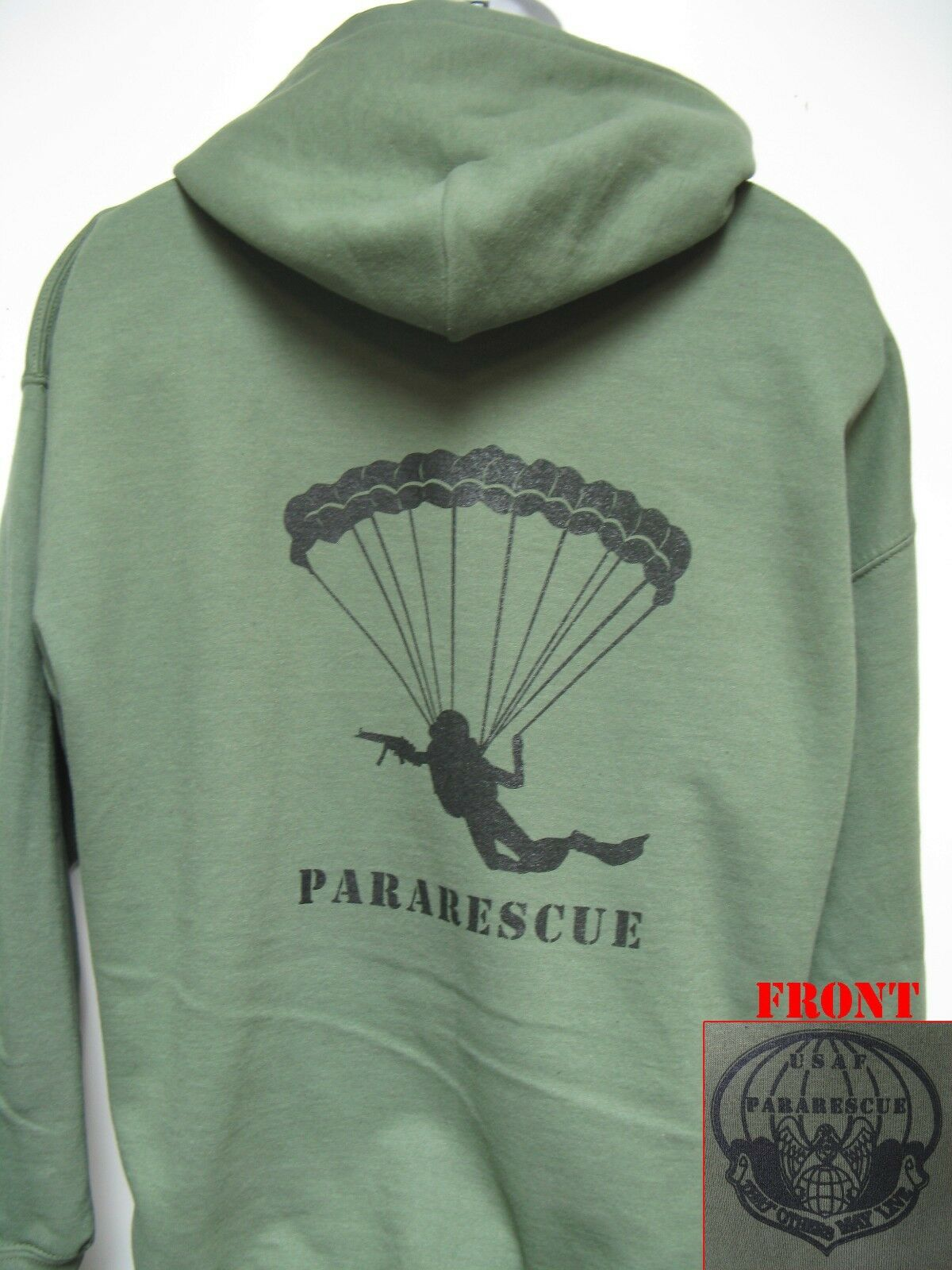 PARARESCUE HOODED SWEATSHIRT/ SPECIAL FORCES/ MEDIC/ MILITARY/ VETERAN/  NEW
