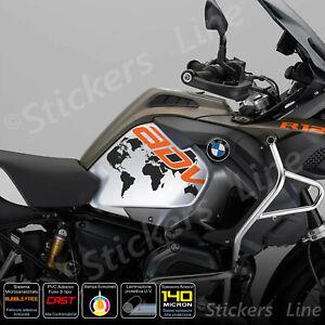 2-Adesivi-Serbatoio-BMW-R-1200-1250-gs-Adventure-LC-GLOBO-orange-black
