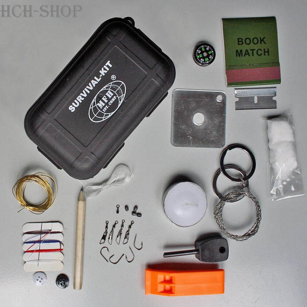 MFH Überlebensset Survival Box Notfall-Set 14tlg.