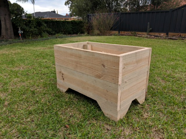 Garden planter box made from treated pine, 60x35cm, 38cm high