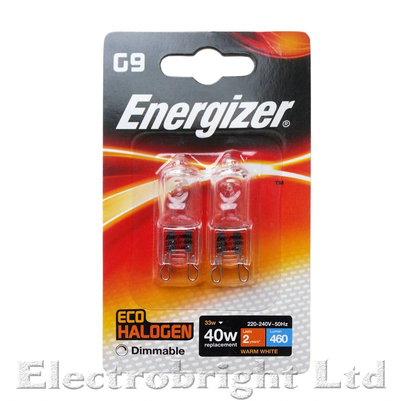 100 X G9 33w = 40w Energizer regulable bombillas de ahorro de energía cápsula (50 paquetes de dos)